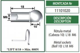 Montcada 11101020 - ANCLAJE OJO METAL 8MM L22 M6