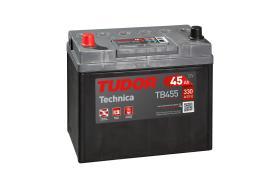 Tudor TB455 - Batería 45Ah/330A + IZQ, 220+135+225mm