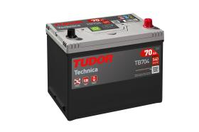 Tudor TB704 - Batería 62Ah/540A + IZQ, 242+175+190mm