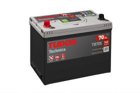 Tudor TB705 - Batería 70Ah/540A + DER, 270+173+222mm