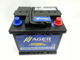 Baterías Ager 54530 - BATERIA AGER  45AH/330A  + DER