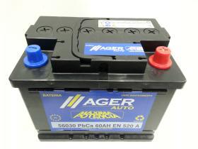 Baterías Ager 56030 - Bateria 45AH/360A  +  IZQ, 207x175x190mm