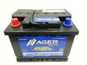 Baterías Ager 56031 - Bateria 60AH/510A  +  DER, 242x175x190mm
