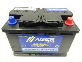 Baterías Ager 57530 - Bateria 60AH/520A  +  IZQ, 242x175x190mm